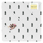 Black and White Triangle Tree Fabric Memory Memo Photo Bulletin Board for Bear Mountain Watercolor Collection by Sweet Jojo Designs