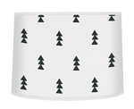 Black and White Triangle Tree Lamp Shade for Bear Mountain Watercolor Collection by Sweet Jojo Designs