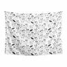 Black and White Wall Hanging Tapestry Art Decor for Black and White Fox Collection by Sweet Jojo Designs - 60in. x 80in.