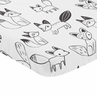 Black and White Woodland Baby or Toddler Fitted Mini Portable Crib Sheet for Fox Collection by Sweet Jojo Designs