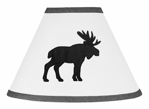 Black and White Woodland Moose Lamp Shade for Rustic Patch Collection by Sweet Jojo Designs - Click to enlarge