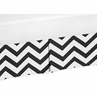 Black and White Zig Zag Crib Bed Skirt for Chevron Baby Bedding Sets by Sweet Jojo Designs