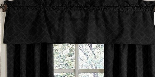Black Diamond Jacquard Modern�Window Valance by Sweet Jojo Designs - Click to enlarge