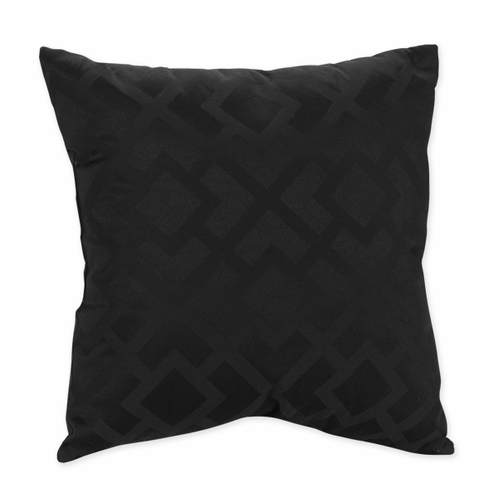 Black Diamond Jacquard Modern Decorative Accent Throw Pillow by Sweet Jojo Designs - Click to enlarge