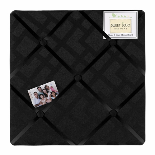 black diamond jacquard modern fabric memory memo photo bulletin board by sweet jojo designs only. Black Bedroom Furniture Sets. Home Design Ideas