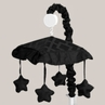 Black Diamond Jacquard Modern Musical Baby Crib Mobile by Sweet Jojo Designs