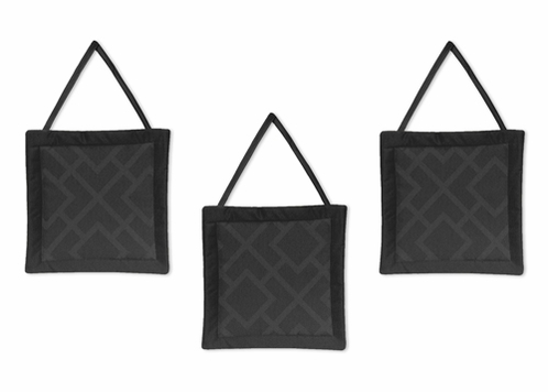 Black Diamond Jacquard Modern Wall Hanging Accessories by Sweet Jojo Designs - Click to enlarge