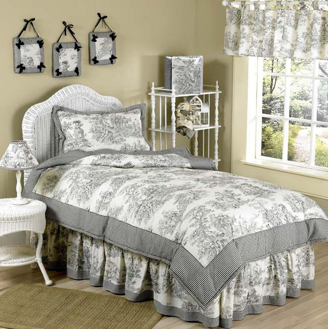 nice Toile Bed Skirts Part - 12: Beyond-Bedding.com