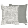 Black French Toile Decorative Accent Throw Pillow by Sweet Jojo Designs