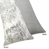 Black French Toile Full Length Double Zippered Body Pillow Case Cover by Sweet Jojo Designs