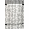 Black French Toile Kids Bathroom Fabric Bath Shower Curtain