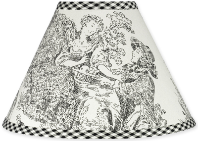 Black French Toile Lamp Shade - Click to enlarge