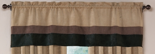Black - Jacaranda Collection - Microsuede Valance Window Treatment - Click to enlarge