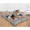 Black Stripe Kids Teen Floor Pillow Case Lounger Cushion Cover for Paris Collection by Sweet Jojo Designs