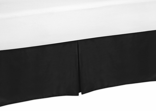 Black Twin Bed Skirt for Black and White Trellis Childrens and Teen Bedding Sets - Click to enlarge