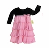 Black Velvet and Pink Tulle Holiday Party Dress by Sweet Jojo Designs