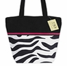 Black, White, Hot Pink, and Zebra Handbag (Great for Diaper Bag, Tote Bag, Purse or Beach Bag)