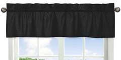 Black Window Valance by Sweet Jojo Designs