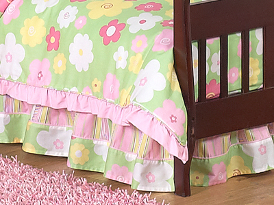 Blossom Bed Skirt for Crib and Toddler Bedding Sets by Sweet Jojo Designs - Click to enlarge