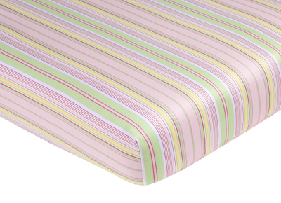 Blossom Fitted Crib Sheet for Baby Toddler Bedding Sets - Stripe Print - Click to enlarge