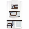 Blue and Brown Geo Baby and Kids Cotton Bath Towel Set - 3pc Set