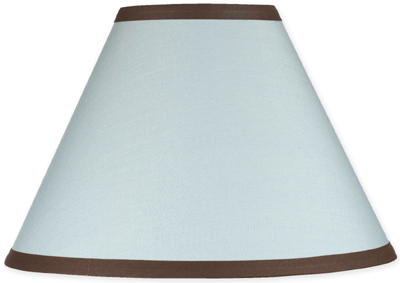 Blue and Brown Hotel Lamp Shade by Sweet Jojo Designs - Click to enlarge