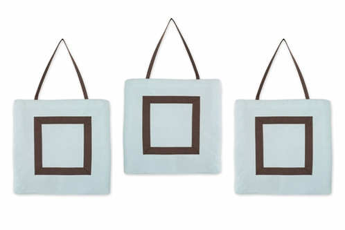 Blue and Brown Hotel Wall Hanging Accessories by Sweet Jojo Designs - Click to enlarge