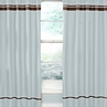 Blue and Brown Hotel Window Treatment Panels - Set of 2