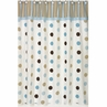 Blue and Brown Mod Dots Kids Bathroom Fabric Bath Shower Curtain