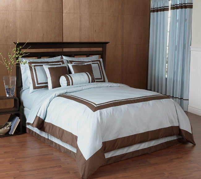 blue and chocolate hotel spa collection duvet cover 6 pc bedding set only 5999