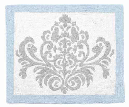 Blue and Gray Avery Accent Floor Rug by Sweet Jojo Designs - Click to enlarge