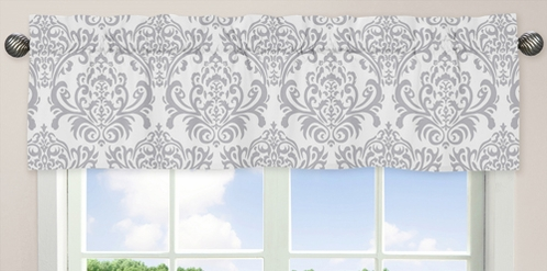 Blue and Gray Avery Window Valance by Sweet Jojo Designs - Click to enlarge