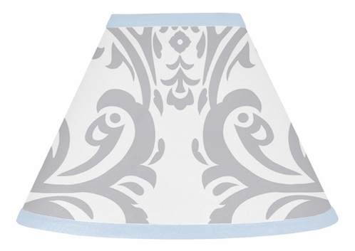 Blue and Gray Avery Lamp Shade by Sweet Jojo Designs - Click to enlarge