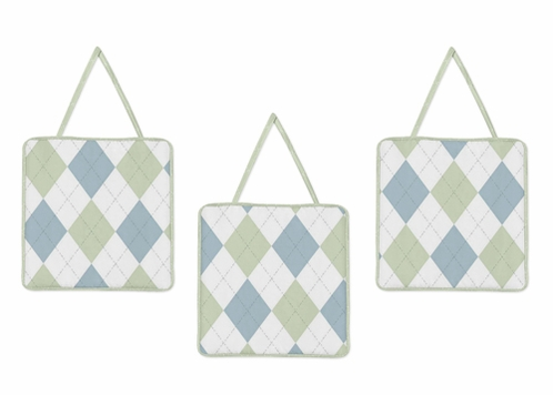 Blue and Green Argyle Wall Hanging Accessories by Sweet Jojo Designs - Click to enlarge