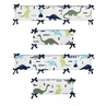 Blue and Green Mod Dinosaur Baby Crib Bumper Pad by Sweet Jojo Designs