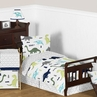 Blue and Green Mod Dinosaur Boy or Girl Toddler Bedding - 5pc Set by Sweet Jojo Designs