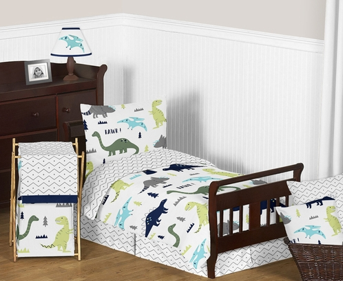 Fitted Crib Sheet For Blue And Green Mod Dinosaur Baby/Toddler Bedding By  Sweet Jojo Designs Only $19.99