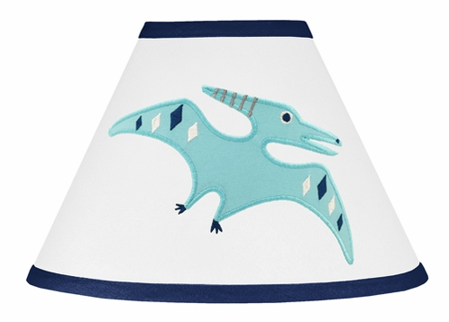 Blue and Green Mod Dinosaur Collection Lamp Shade by Sweet Jojo Designs - Click to enlarge