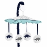 Blue and Green Mod Dinosaur Collection Musical Baby Crib Mobile by Sweet Jojo Designs
