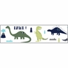 Blue and Green Mod Dinosaur Kids and Baby Modern Wall Paper Border by Sweet Jojo Designs