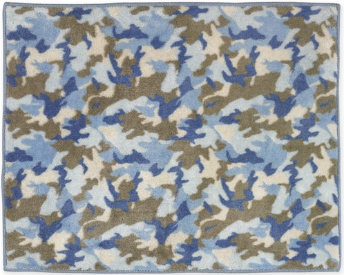 Blue and Khaki Camo Accent Floor Rug - Click to enlarge