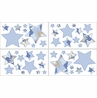 Blue and Khaki Camo Army Camouflage Baby and Kids Wall Decal Stickers - Set of 4 Sheets
