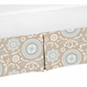 Blue and Taupe Crib Bed Skirt for Hayden Baby Bedding Sets by Sweet Jojo Designs