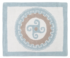 Blue and Taupe Hayden Accent Floor Rug by Sweet Jojo Designs