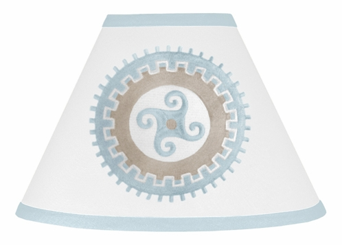 Blue and Taupe Hayden Lamp Shade by Sweet Jojo Designs - Click to enlarge