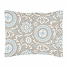 Blue and Taupe Hayden Pillow Sham by Sweet Jojo Designs