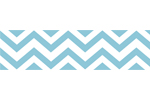 Turquoise and White Chevron Zig Zag Kids and Baby Modern Wall Paper Border