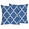 Blue and White Trellis Decorative Accent Throw Pillows - Set of 2