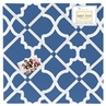Blue and White Trellis Fabric Memory/Memo Photo Bulletin Board