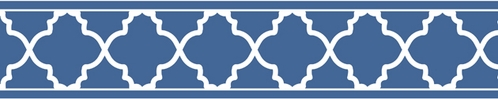 Blue and White Trellis Kids and Baby Modern Wall Paper Border - Click to enlarge